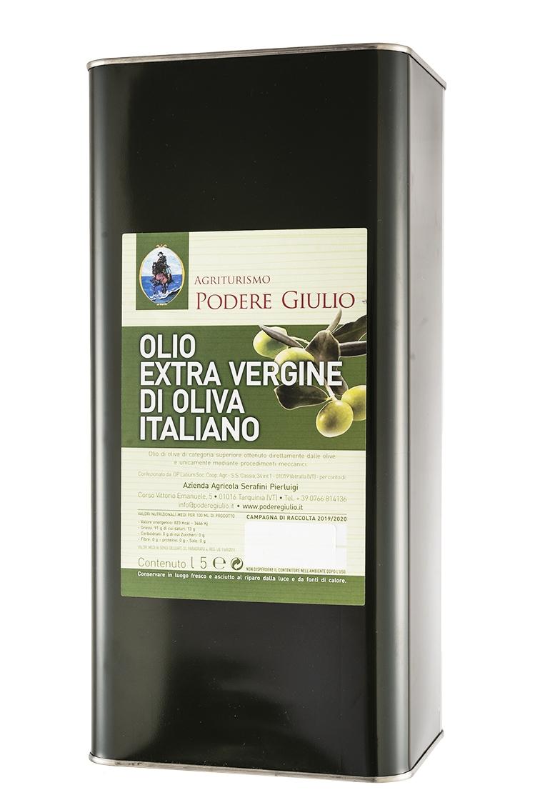 OLIO EXTRAVERGINE DI OLIVE DA 5 LT